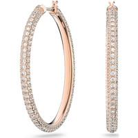 Montres & Bijoux Femme Boucles d'oreilles Swarovski Créoles  Stone rosées Rose