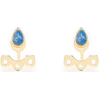 Montres & Bijoux Femme Boucles d'oreilles Emma & Chloé Boucles d'oreilles Emma et Chloé Samia Lapis Lazuli Jaune