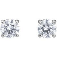 Montres & Bijoux Femme Boucles d'oreilles Swarovski Clous d'oreilles  Attract Blanc