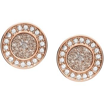 Montres & Bijoux Femme Boucles d'oreilles Fossil Boucles d'oreilles  Holiday Glitz Rose