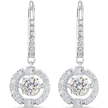 Montres & Bijoux Femme Boucles d'oreilles Swarovski Boucles d'oreilles  Sparkling Dance round Blanc