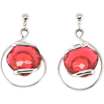 Montres & Bijoux Femme Boucles d'oreilles Andrea Marazzini Boucles d'oreilles Marazzini Riflessi red courtes Blanc
