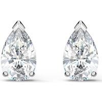 Montres & Bijoux Femme Boucles d'oreilles Swarovski Boucles d'oreilles  Clous Attract Pear Blanc