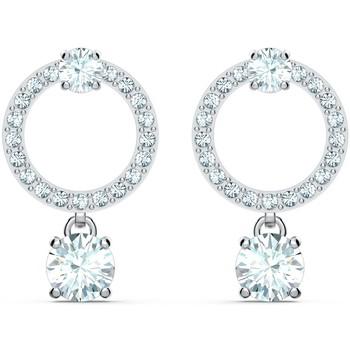 Montres & Bijoux Femme Boucles d'oreilles Swarovski Boucles d'oreilles  Attract Circle Blanc