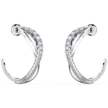 Montres & Bijoux Femme Boucles d'oreilles Swarovski Créoles  Twist Blanc
