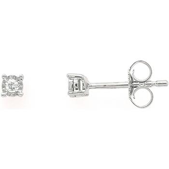 Montres & Bijoux Femme Boucles d'oreilles Brillaxis Boucles d'oreilles  diamant 0.03 cts Blanc