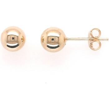 Montres & Bijoux Femme Boucles d'oreilles Brillaxis Boucles d'oreilles Boule 6 mm or jaune 9 carats Jaune