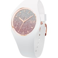 Montres & Bijoux Femme Montres Analogiques Ice Watch Montre  femme Ice Lo White Pink Small Blanc