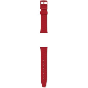 Montres & Bijoux Femme Bracelets Swatch Bracelet de montre  silicone rouge Lazered Rouge