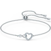 Montres & Bijoux Femme Bracelets Swarovski Bracelet  Infinity Heart Blanc