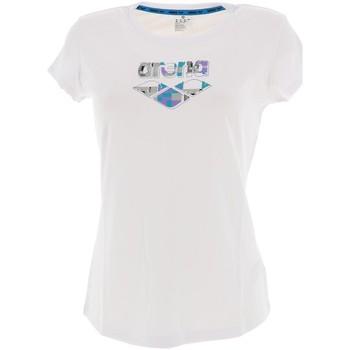 Vêtements Femme T-shirts manches courtes Arena W gim logo white lady Blanc