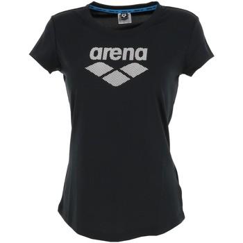 Vêtements Femme T-shirts manches courtes Arena W gim logo black lady Noir