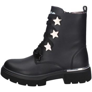 Chaussures Fille Bottines Asso AG-9256 NOIR