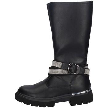 Chaussures Fille Bottes ville Asso AG-9251 NOIR