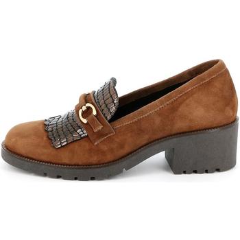 Chaussures Femme Mocassins Grunland - Mocassino cuoio SC2967 MARRONE