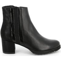 Chaussures Femme Bottines Grunland - Polacchino nero PO1568 NERO