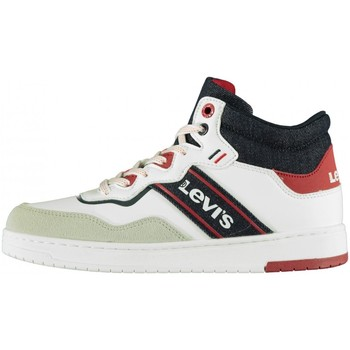 Chaussures Garçon Baskets montantes Levi's - Irving mid lace bianco VIRV0004S-0061 BIANCO