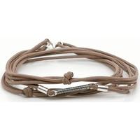 Montres & Bijoux Homme Bracelets Sing A Song Bracelet  3 tours tige corde de basse Marron