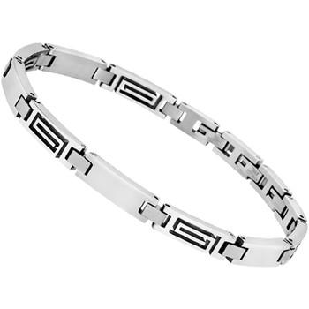Montres & Bijoux Homme Bracelets Lotus Bracelet  homme maillons spirales Blanc