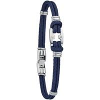 Montres & Bijoux Homme Bracelets Jourdan Bracelet homme  Maho bleu marine Blanc