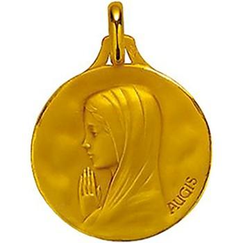 Montres & Bijoux Enfant Pendentifs Brillaxis Médaille Augis vierge en or jaune 18 carats Jaune