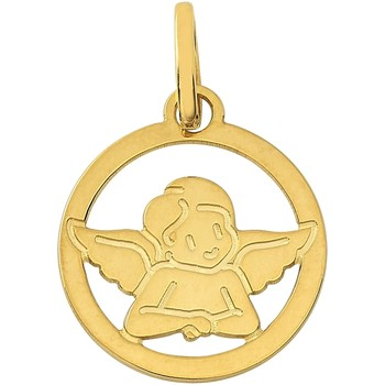 Montres & Bijoux Enfant Pendentifs Brillaxis Médaille  ange découpé 13mm Jaune