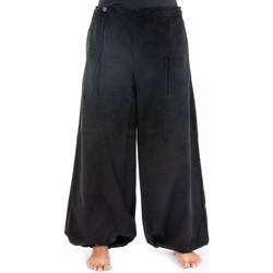 Vêtements Femme Pantalons fluides / Sarouels Fantazia Pantalon large femme hiver velours Selma Noir