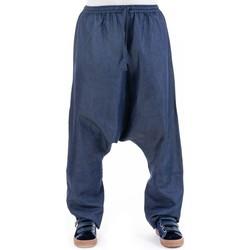 Vêtements Pantalons fluides / Sarouels Fantazia Sarouel mixte jean denim doux Kholnuhos Bleu