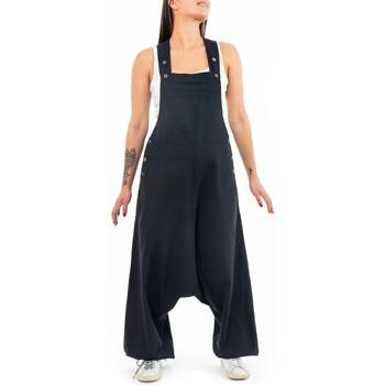 Vêtements Femme Combinaisons / Salopettes Fantazia Salopette sarouel basic street Samagra Noir
