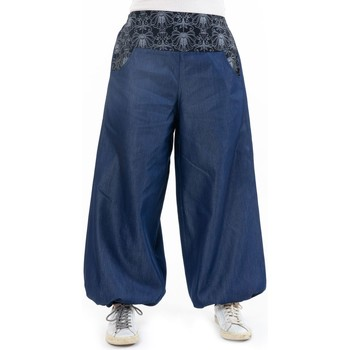 Vêtements Femme Jeans Fantazia Pantalon large bouffant denim Mayurah Bleu