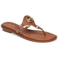 Chaussures Femme Tongs MICHAEL Michael Kors CONWAY SANDAL Cognac