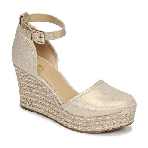 Chaussures Femme Sandales et Nu-pieds MICHAEL Michael Kors KENDRICK WEDGE Doré