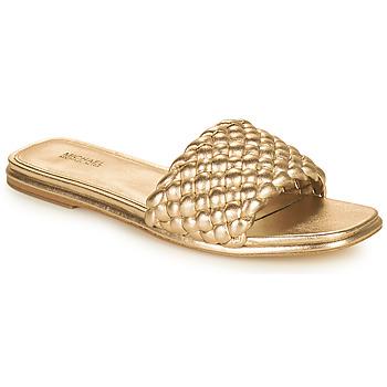 Chaussures Femme Mules MICHAEL Michael Kors AMELIA FLAT SANDAL Doré