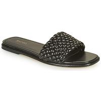 Chaussures Femme Mules MICHAEL Michael Kors AMELIA FLAT SANDAL Noir