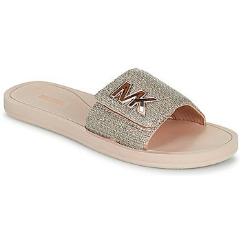Chaussures Femme Claquettes MICHAEL Michael Kors MK SLIDE Rose Nude / Doré