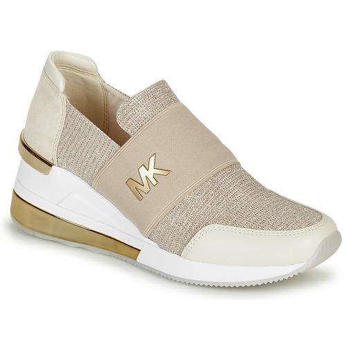 Chaussures Femme Baskets basses MICHAEL Michael Kors FELIX TRAINER EXTREME Champagne