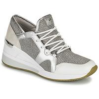 Chaussures Femme Baskets basses MICHAEL Michael Kors LIV TRAINER Argenté