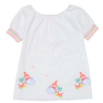 Vêtements Fille Robes courtes Billieblush / Billybandit U12657-10B Blanc
