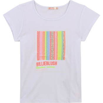 Vêtements Fille T-shirts manches courtes adidas shell toes and hand foot U15857-10B Blanc