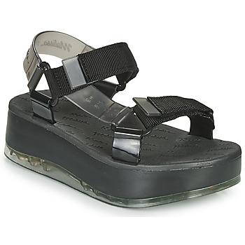 Chaussures Femme Sandales et Nu-pieds Melissa PAPETE PLATFORM + RIDER Noir / Gris