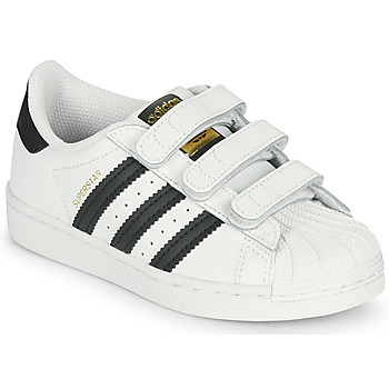 Chaussures Enfant Baskets basses adidas Originals SUPERSTAR CF C Blanc / Noir