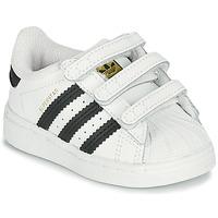 Chaussures Enfant Baskets basses adidas Originals SUPERSTAR CF I Blanc / Noir