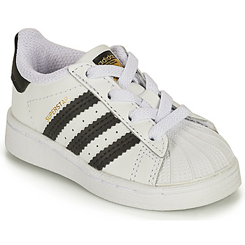Chaussures Enfant Baskets basses adidas Originals SUPERSTAR EL I Blanc / Noir