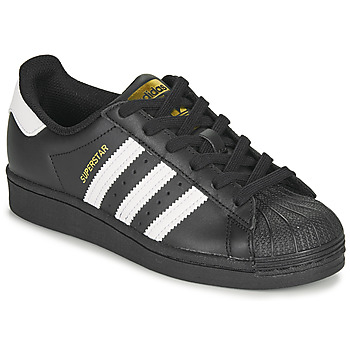 Chaussures Enfant Baskets basses adidas Originals SUPERSTAR J Noir / Blanc