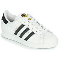Chaussures Enfant Baskets basses adidas Originals SUPERSTAR J Blanc / Noir