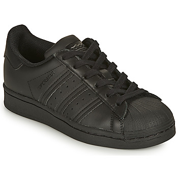 Chaussures Enfant Baskets basses adidas Originals SUPERSTAR J Noir