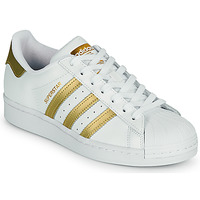 Chaussures Femme Baskets basses adidas Originals SUPERSTAR W Blanc / Doré