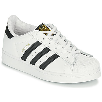 Chaussures Enfant Baskets basses adidas Originals SUPERSTAR C Blanc / Noir