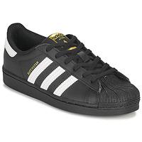 Chaussures Enfant Baskets basses adidas Originals SUPERSTAR C Noir / Blanc