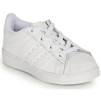Chaussures Fille Baskets basses adidas Originals SUPERSTAR EL I Blanc / Iridescent